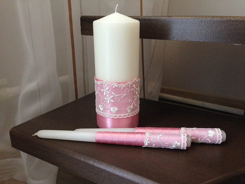 Cвадебные свечи своими руками: делаем, украшаем, идём 86